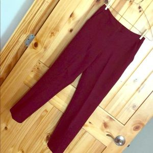 ASOS Tailored Vent Front Kick Flare Oxblood Pants